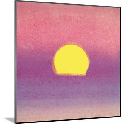 Sunset, c.1972 40/40 (lavender)-Andy Warhol-Mounted Print