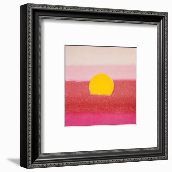 Sunset, c.1972 40/40 (pink)-Andy Warhol-Framed Art Print