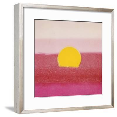 Sunset, c.1972 (hot pink, pink, yellow)-Andy Warhol-Framed Giclee Print