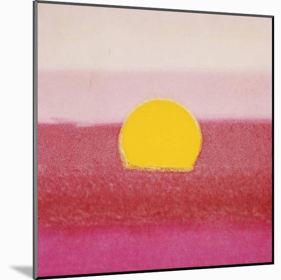 Sunset, c.1972 (hot pink, pink, yellow)-Andy Warhol-Mounted Giclee Print
