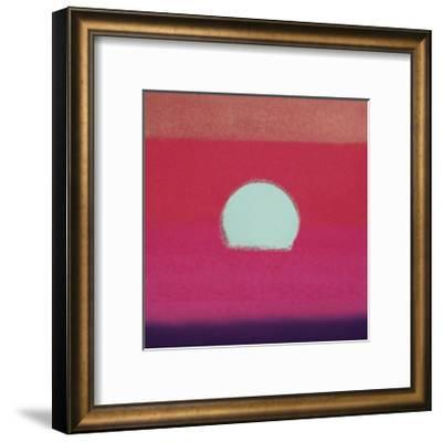 Sunset, c.1972 (hot pink, purple, red, blue)-Andy Warhol-Framed Giclee Print