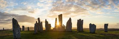 Sunset, Callanish Standing Stones, Isle of Lewis, Outer Hebrides, Scotland-Peter Adams-Photographic Print