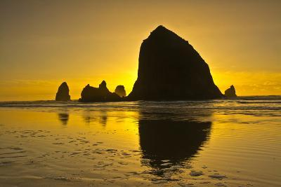 Sunset, Cannon Beach, Oregon, USA-Michel Hersen-Photographic Print