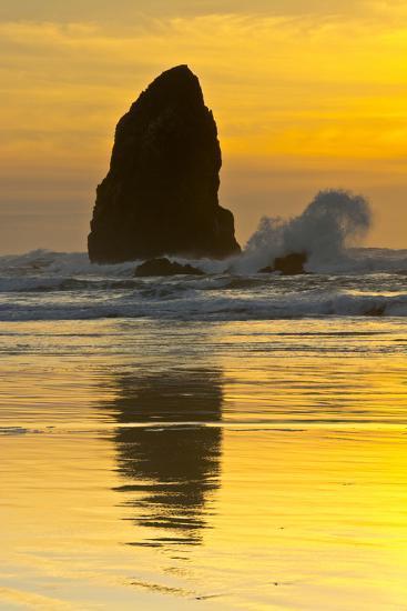 Sunset, Cannon Beach, Oregon, USA-Michel Hersen-Photographic Print