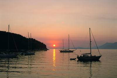 Sunset, Cavtat, Croatia-Peter Thompson-Photographic Print