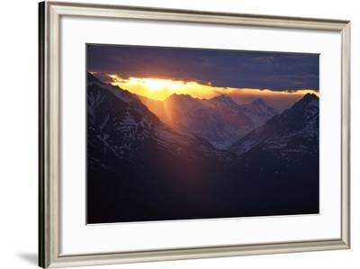 Sunset Chilkat Mtns Near Canadian Border Ak Southeast Summer Scenic Landscape Clouds-Design Pics Inc-Framed Photographic Print