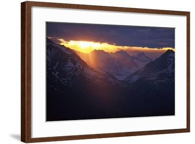 Sunset Chilkat Mtns Near Canadian Border Ak Southeast Summer Scenic Landscape Clouds-Design Pics Inc-Framed Photographic Print