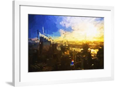 Sunset City - In the Style of Oil Painting-Philippe Hugonnard-Framed Giclee Print