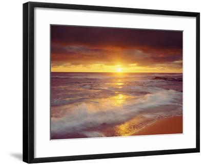Sunset Cliffs Beach on the Pacific Ocean at Sunset, San Diego, California, USA-Christopher Talbot Frank-Framed Photographic Print