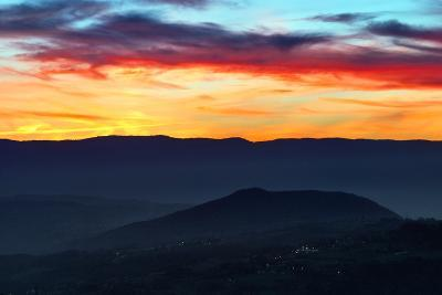 Sunset Colors from the Alps Near the Border of Switzerland and France-Babak Tafreshi-Photographic Print