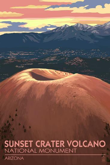 Sunset Crater Volcano National Monument, Arizona-Lantern Press-Art Print