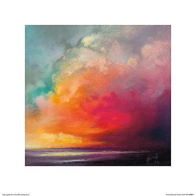 Sunset Cumulus Study 1-Scott Naismith-Art Print