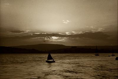 Sunset, Exmouth, 1911--Photographic Print