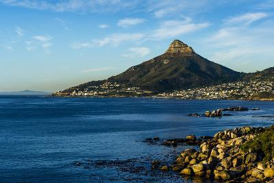 Sunset Falls on Cape Town and the Lion's Head Overlooking Table Bay-Jason Edwards-Photographic Print
