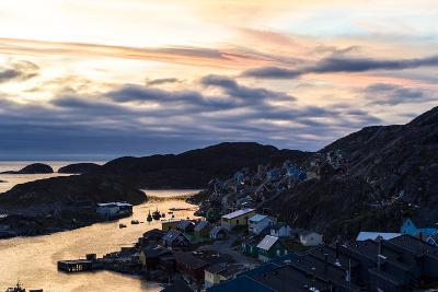 Sunset Falls over an Arctic Fishing Village on a Rugged Island-Jason Edwards-Photographic Print