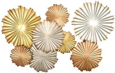 charming Metallic Wall Decor Part - 16: Sunset Fireworks Metallic Wall Decor *