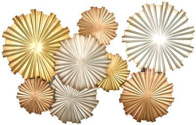 Sunset Fireworks Metallic Wall Decor *