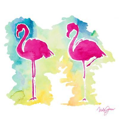 Sunset Flamingo-Nola James-Art Print