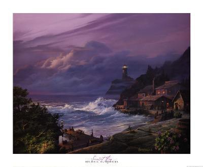Sunset Fog-Michael Humphries-Art Print