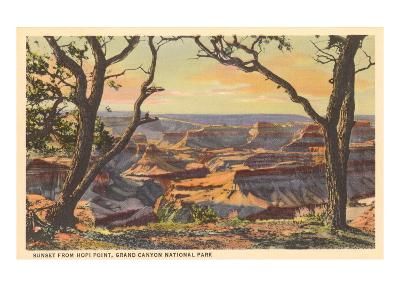 Sunset from Hopi Point, Grand Canyon--Art Print