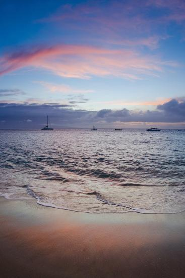 Sunset from Kaanapali Beach, Maui, Hawaii, Usa-Roddy Scheer-Photographic Print