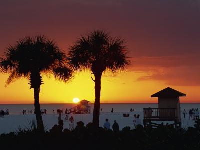 Sunset from Siesta Beach, Siesta Key, Sarasota, Florida, United States of America, North America-Tomlinson Ruth-Photographic Print