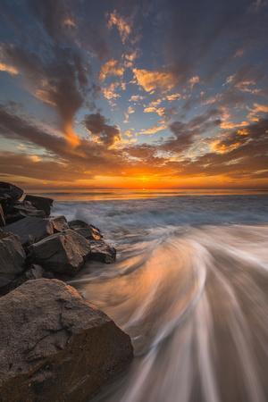 Sunset from Tamarach Beach in Carlsbad, Ca-Andrew Shoemaker-Photographic Print