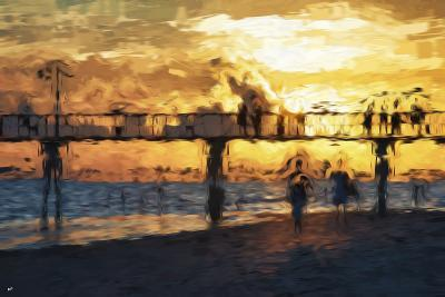 Sunset Gold - In the Style of Oil Painting-Philippe Hugonnard-Giclee Print