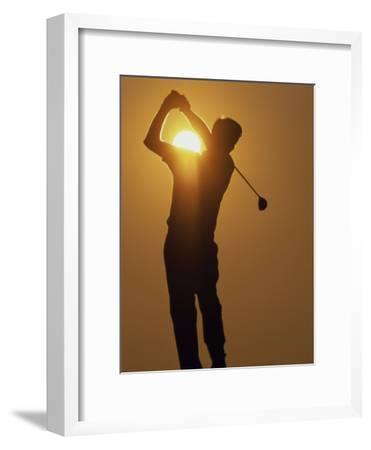 Sunset Golf Silhouette