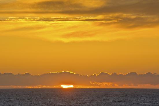 Sunset, Heceta Beach, Oregon Coast, Pacific Ocean, Oregon, USA.-Michel Hersen-Photographic Print