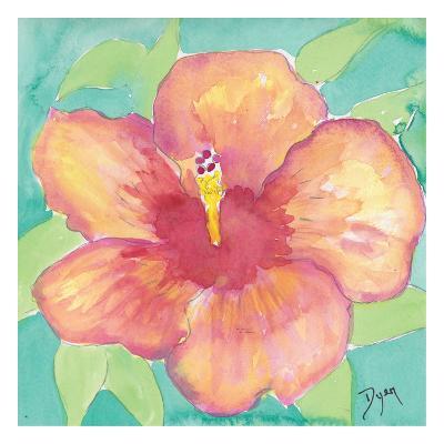 Sunset Hibiscus II-Beverly Dyer-Art Print