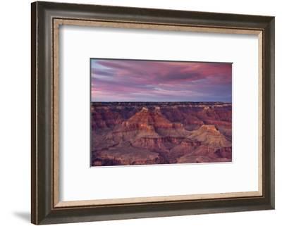 Sunset, Hopi Point, South Rim, Grand Canyon NP, Arizona, USA-Michel Hersen-Framed Photographic Print