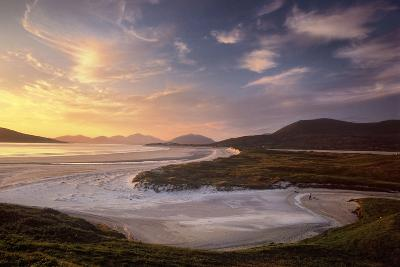 Sunset Illuminates Luskentyre Strand and Its Serpentine Coastline-Jim Richardson-Photographic Print