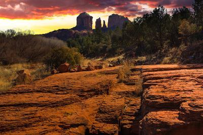 Sunset Image of Cathedral Rock.-diro-Photographic Print