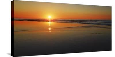 Sunset impression, Taranaki, New Zealand-Frank Krahmer-Stretched Canvas Print