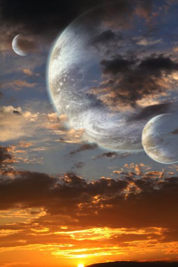 Sunset In Alien Planet-frenta-Art Print