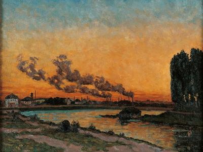 Sunset in Ivry-Jean-Baptiste-Armand Guillaumin-Art Print