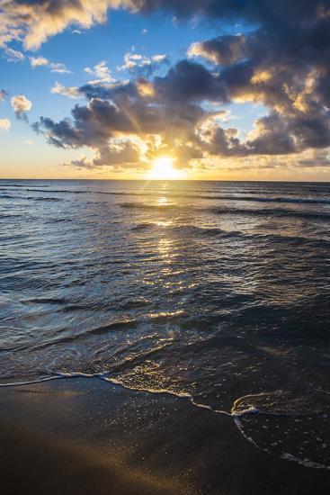 Sunset in Kauai, Hawaii, United States of America, Pacific-Michael Runkel-Photographic Print
