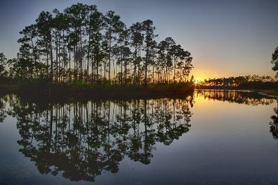 Sunset in Long Pine Area of Everglades NP-Terry Eggers-Photographic Print