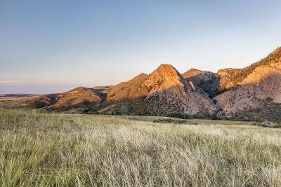 Sunset in Mountains - Eagle Nest Rock and Prairie in Northern Colorado near Fort Collins-PixelsAway-Photographic Print