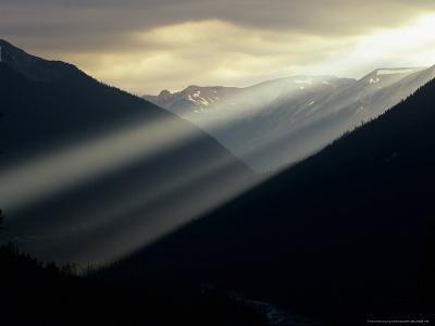 Sunset in Mt. Rainier National Park, Washington, USA-Jerry Ginsberg-Photographic Print