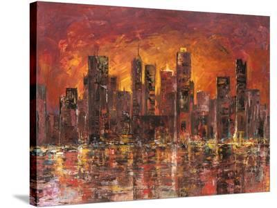 Sunset in New York-Luigi Florio-Stretched Canvas Print