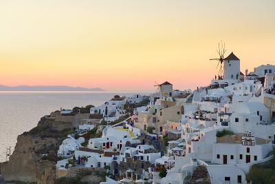 Sunset in Oia, Santorini, Cyclades, Greeced-Katja Kreder-Photographic Print