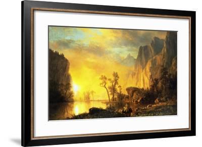 Sunset in the Rockies-Albert Bierstadt-Framed Art Print