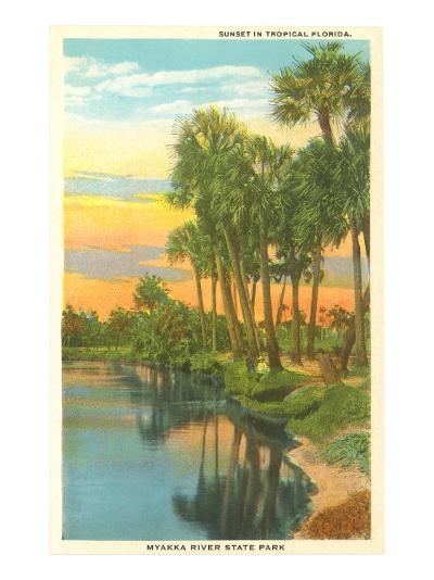 Sunset in Tropical Florida, Myakka River State Park--Art Print