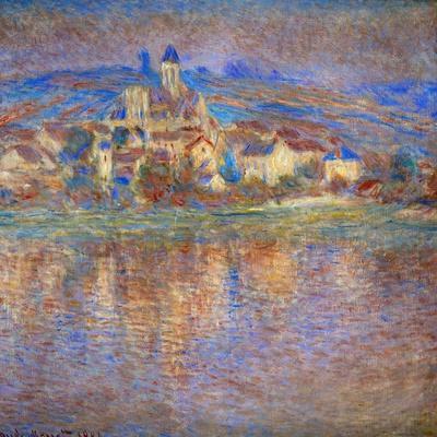 Sunset in Vetheuil, 1900-Claude Monet-Giclee Print