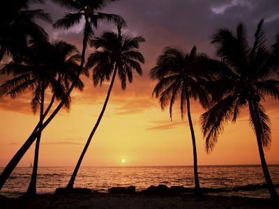 Sunset, Kohala Coast, Island of Hawaii, Hawaiian Islands, USA--Photographic Print