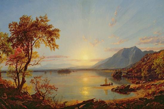 Sunset, Lake George, New York, 1867-Jasper Francis Cropsey-Giclee Print