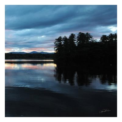 Sunset Lake Pink 2-Suzanne Foschino-Art Print