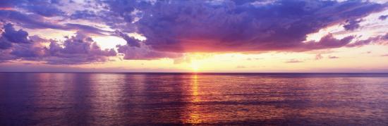 Sunset, Lake Superior, USA--Photographic Print